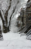 Montreal snow storm Royalty Free Stock Photo