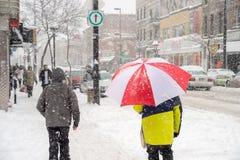 montreal snowstorm Arkivbilder