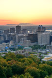 Montreal soluppgång royaltyfria foton