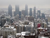 Montreal sotto neve Immagine Stock