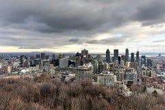 Montreal stadshorisont royaltyfria foton