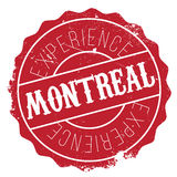 Montreal stamp rubber grunge Stock Image