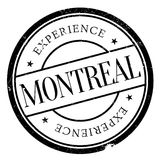 Montreal stamp rubber grunge Royalty Free Stock Photo