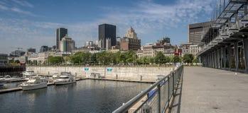 Montreal Starego portu scena Fotografia Royalty Free