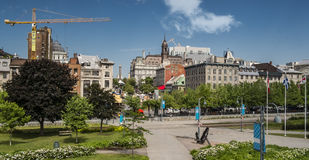 Montreal Starego portu scena Zdjęcia Royalty Free