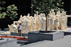 Montreal statue Stock Images