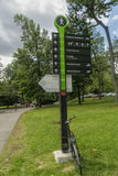 Montreal Ste Helene Island sign Royalty Free Stock Photo