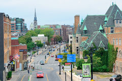 Montreal street view Royalty Free Stock Photos