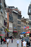Montreal street view. MONTREAL, CANADA - SEP 8: City old street view on September 8, 2012 in Montreal, Canada. It is the largest city in Quebec, the second royalty free stock photos