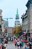 Montreal street view. MONTREAL, CANADA - SEP 8: City old street view on September 8, 2012 in Montreal, Canada. It is the largest city in Quebec, the second stock images