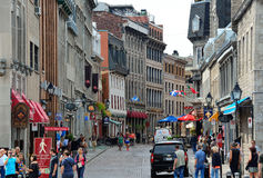 Montreal street view. MONTREAL, CANADA - SEP 8: City old street view on September 8, 2012 in Montreal, Canada. It is the largest city in Quebec, the second stock photos