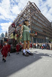 Montreal streets during 375th birthday bash Stock Photography