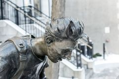 Montreal Student Statue On Sherbrooke Royalty Free Stock Photo