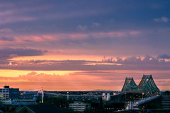 Montreal at sunrise royalty free stock images