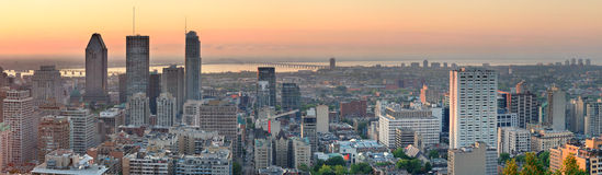 Montreal sunrise panorama Royalty Free Stock Photos