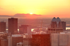Montreal sunrise stock image
