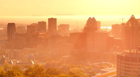 Montreal sunrise Stock Image