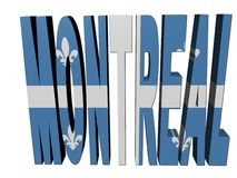 Montreal text with Quebec flag Stock Photography