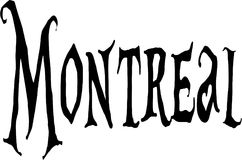 Montreal text sign illustration Royalty Free Stock Photo
