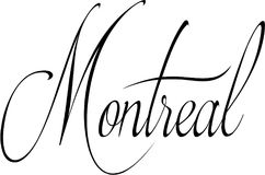 Montreal text sign illustration Royalty Free Stock Image