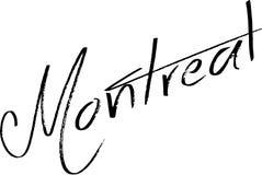 Montreal text sign illustration Stock Photos