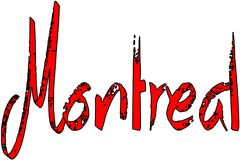 Montreal-Textzeichenillustration Lizenzfreies Stockbild