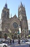 Montreal, 27th Czerwiec: Chrystus Kościelna Katedralna fasada od centrum miasta Montreal w Quebec ProvincJ Zdjęcie Stock