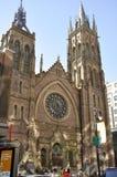 Montreal, 27th Czerwiec: Chrystus Kościelna Katedralna fasada od centrum miasta Montreal w Quebec prowinci Obrazy Royalty Free