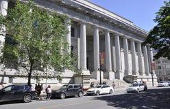 Montreal 26th Czerwiec: Cour d ` Appel De Sprawiedliwość budynek od Rucianego Notre Damae Montreal w Kanada Obrazy Royalty Free