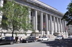 Montreal 26th Czerwiec: Cour d ` Appel De Sprawiedliwość budynek od Rucianego Notre Damae Montreal w Kanada Obraz Royalty Free