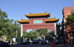 Montreal, 27th Czerwiec: W centrum Chiński brama widok od Montreal w Quebec prowinci Zdjęcie Stock
