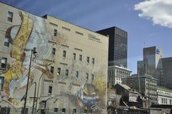 Montreal, 27th Czerwiec: W centrum Uliczny widok od Montreal w Quebec prowinci Obrazy Royalty Free