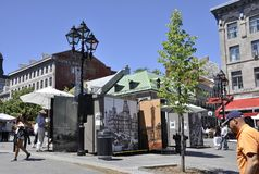 Montreal, 26th June: Place Jacques Cartier in Centre Ville of Montreal in Canada. Place Jacques Cartier in Centre Ville of Montreal in Canada on 26th of June Stock Image
