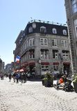 Montreal 26th June: Street view from Old Montreal in Canada. View of Rue Notre Dame from Vieux Montreal city in Canada on 26th June 2017 royalty free stock images