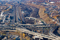 Montreal Turcot project royalty free stock images
