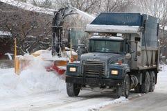 Montreal ulica w zimie Obrazy Royalty Free