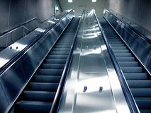 Montreal-Untergrundbahnrolltreppe stockfoto