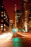 Montreal van de binnenstad bij nacht Stock Fotografie