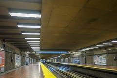 Montreal Viau subway station metro. Montreal Viau subway station called the metro. The Viau station east Montreal stock images