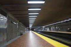 Montreal Viau subway station (metro). Montreal Viau subway station called the metro stock image