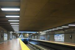 Montreal Viau subway station (metro). Montreal Viau subway station called the metro royalty free stock photos