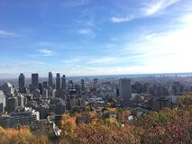 Montreal view in fall 2 royalty free stock photography