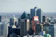 Montreal. View of Montreal form the Mont-Royal in a sunny day Stock Photos