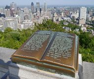 Montreal, view from Mount Royal Royalty Free Stock Photos