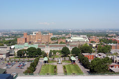 Montreal view from Mount Royal St-Joseph Stock Photo