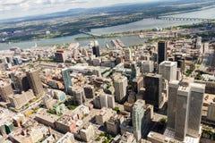 Montreal-Vogelperspektive Stockfoto