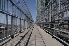 Montreal vue del puente más cartier de Jacques Imagenes de archivo