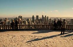 Montreal - W centrum panoramy zima zdjęcia stock