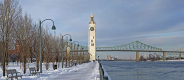 Montreal in winter Royalty Free Stock Images