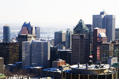 Montreal in winter Stock Photo